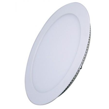 LED mini panel, podhledový, 6W, 400lm, 3000K, tenký, kulatý, bílé
