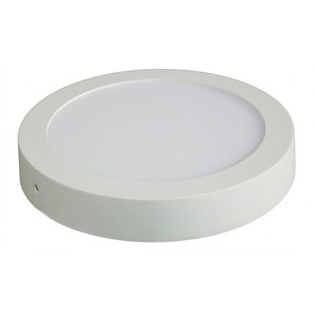 LED panel přisazený, 18W, 1530lm, 3000K, kulatý, bílý