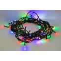 LED vánoční řetěz, 60 LED, 10m, přívod 3m, 8 funkcí, IP20, vícebarevný