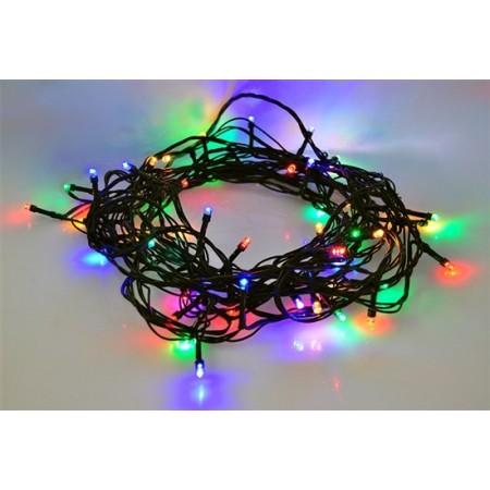 LED vánoční řetěz, 120 LED, 20m, přívod 5m, 8 funkcí, IP44, vícebarevný