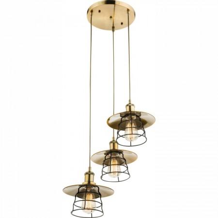 Lustr - závěsné svítidlo rustikální 715086-3H1